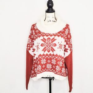 Yes Lola Red Cowl Neck Sweater Size M